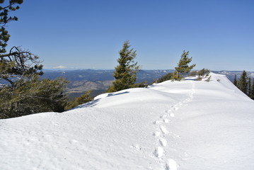 snow covered ridge walk