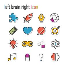 Line icons, Brain icon, Modern infographic vector logo