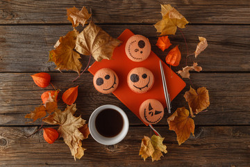 Scarry halloween pumpkin background