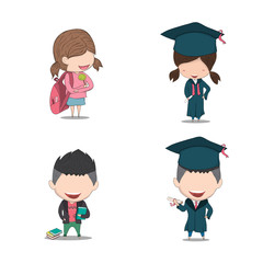 Set graduated pupils, drawing by hand vector