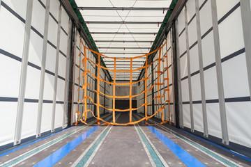 Empty cargo trailer