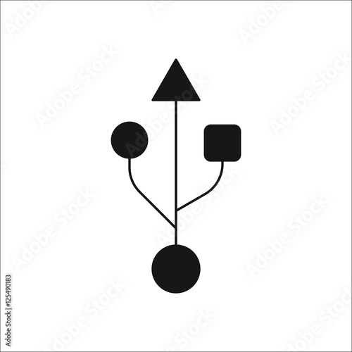 quotusb symbol silhouette icon on backgroundquot stock image and