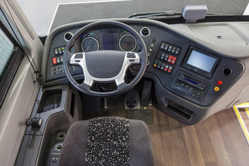 Interior of a truck