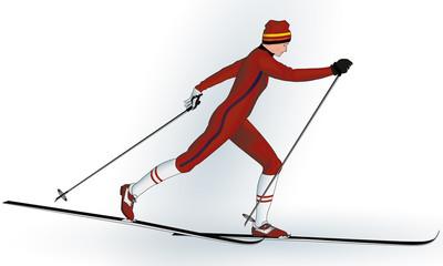 Skieur de fond.
