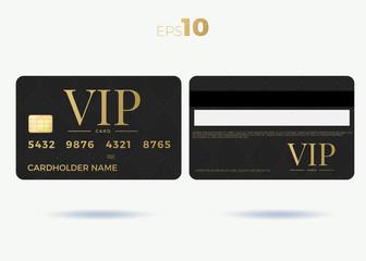 Vip member card set vector design illustration