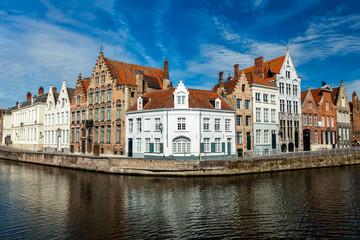 Aluminium Prints Bridges Bruges canals