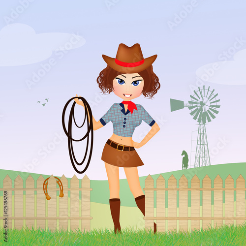 quotcowgirl in the farmquot stock photo and royaltyfree images