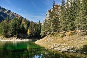 Tragöß, Herbstmorgen am Grünen See
