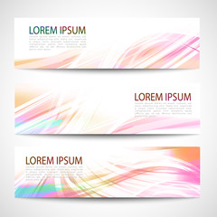 Abstract header line wave white vector design. colorful rainbow background