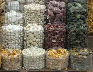 wet crushed marble, pebbles, granite, texture,