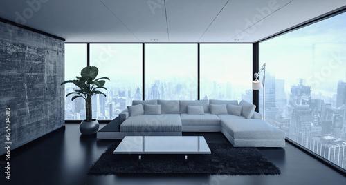Living Room With Sofa And Ambient Window Light Zdj Stockowych I Obraz W Royalty Free W