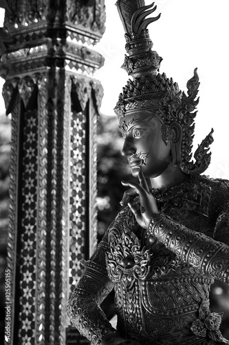 Giant Of Modern Photography At >> Giant Statue In Modern Thai Style With Back And White Photography