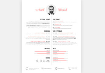 Resume Layout - Portrait 2