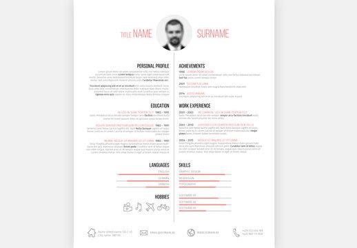 Resume Layout - Portrait 2