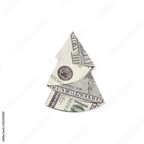 quotmoney origami christmas treequot stock photo and royalty