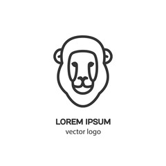 Vector logo design template for lion, badge for websites and prints. Modern easy to edit logo template.
