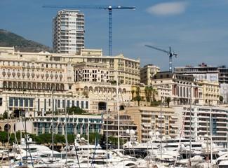 Cityscape and harbour of Monte Carlo. Principality of Monaco.