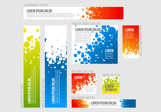 8 Abstract Design Banner Templates