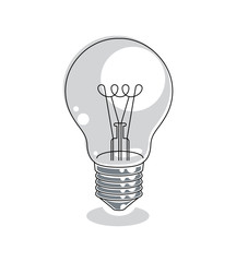 Light bulb idea concept vector illustration isolated on white ba