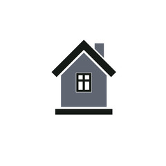 Simple house icon for graphic design, mansion conceptual symbol,