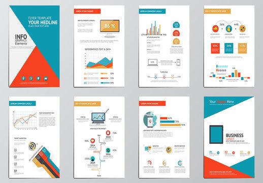 Bright Geometric Element Infographic Layout
