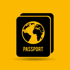 button passport identity traveler design, vector illustration  graphic