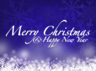 merry christmas - happy new year - greeting card