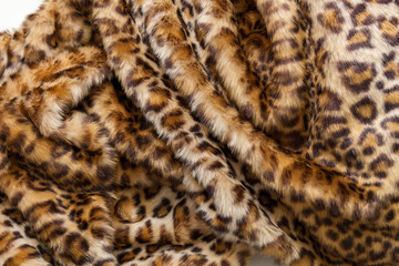 Leopard fur textile.
