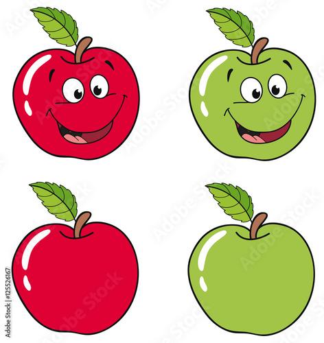 """""""Lachende Äpfel"""" Stockfotos und lizenzfreie Vektoren auf ..."""