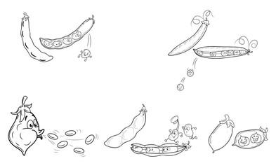 Fröhliche und gesunde Hülsenfrüchte