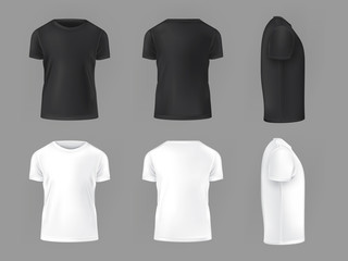 Search photos category lifestyle fashion clothes vector set template of male t shirts maxwellsz