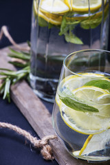 Close-up of lime drink