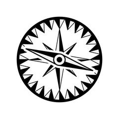 vintage compass wind rose icon over white background. navigation and travelling design. vector illustration