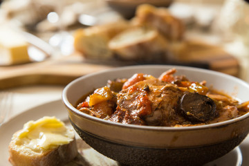 Chicken Cacciatore served for dinner