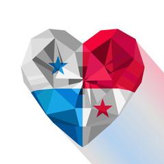 Flat style logo symbol of love Panama.