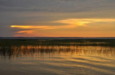 Evening on lake