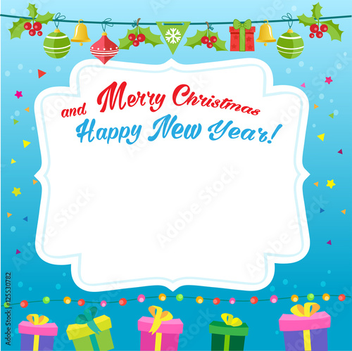 New Year Background Design Vector. Cartoon Illustration New Year ...