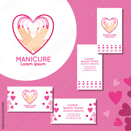 Manicure logo set of business cards for manicure stock image and manicure logo set of business cards for manicure colourmoves