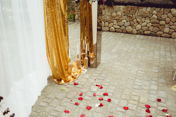Wedding Arch in gold tones