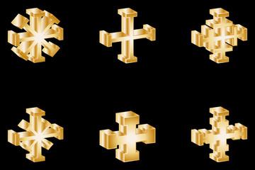 cross set, cross,