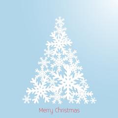 Christmas Tree Minimalistic Design - vector background