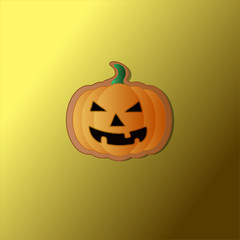 Picture of Halloween pumpkin cookie in vector