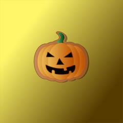 Picture of Halloween pumpkin cookie in vector