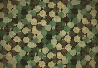 Green Military Camouflage Inspired Geometric Pattern 4