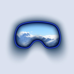 ski and snowboard goggles vector illustration.