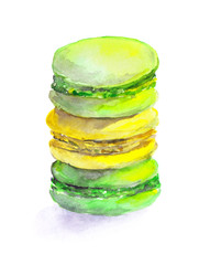 Colorful drawn cookies - macaroons
