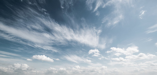 Sky and clouds atmosphere background