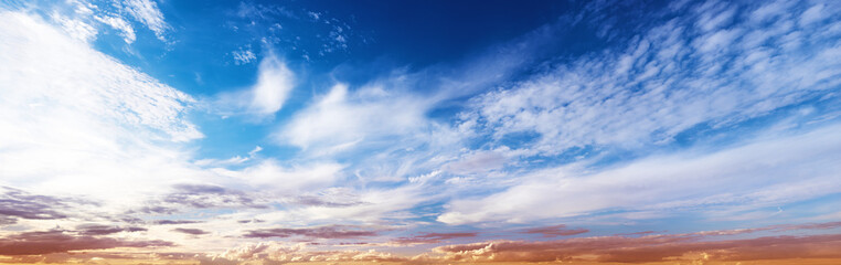 Sky panorama sunrise