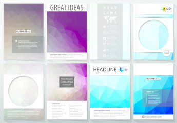 A4 Brochure Layout with Geometric Design Element