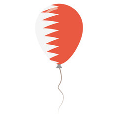Kingdom of Bahrain national colors isolated balloon on white background. Independence day patriotic poster. Flat style National day vector illustration.